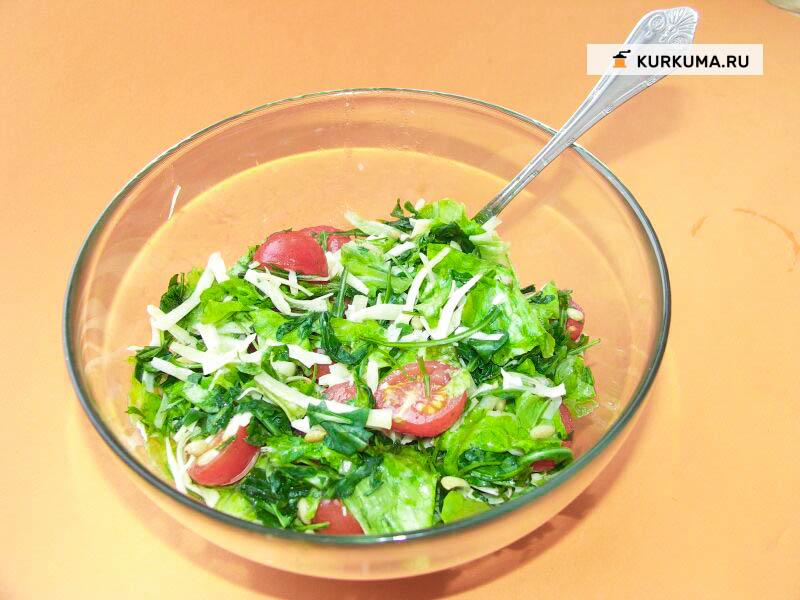 Вегетарианские рецепты - салат из руколы