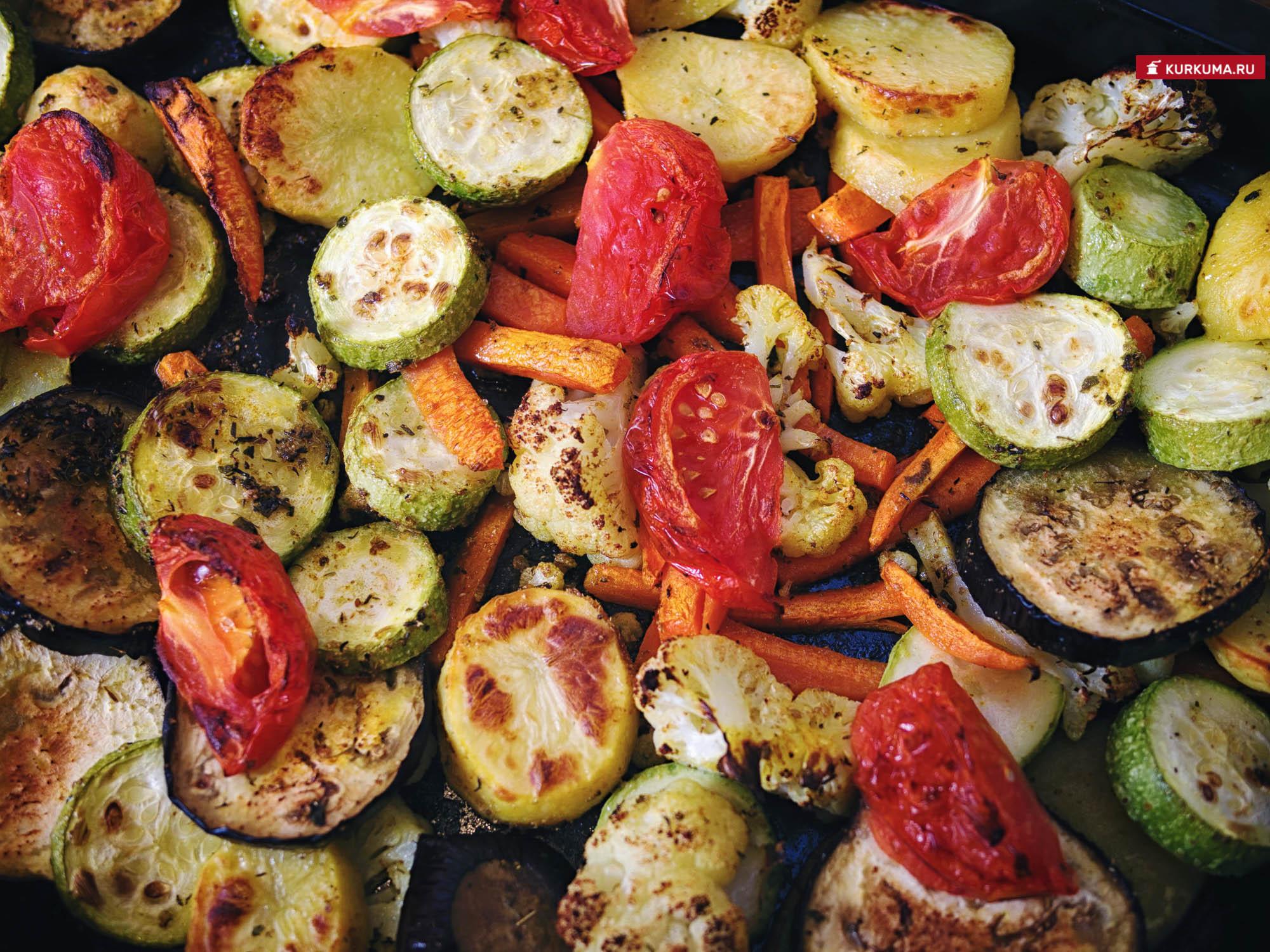 Запеченные овощи рецепт с фото
