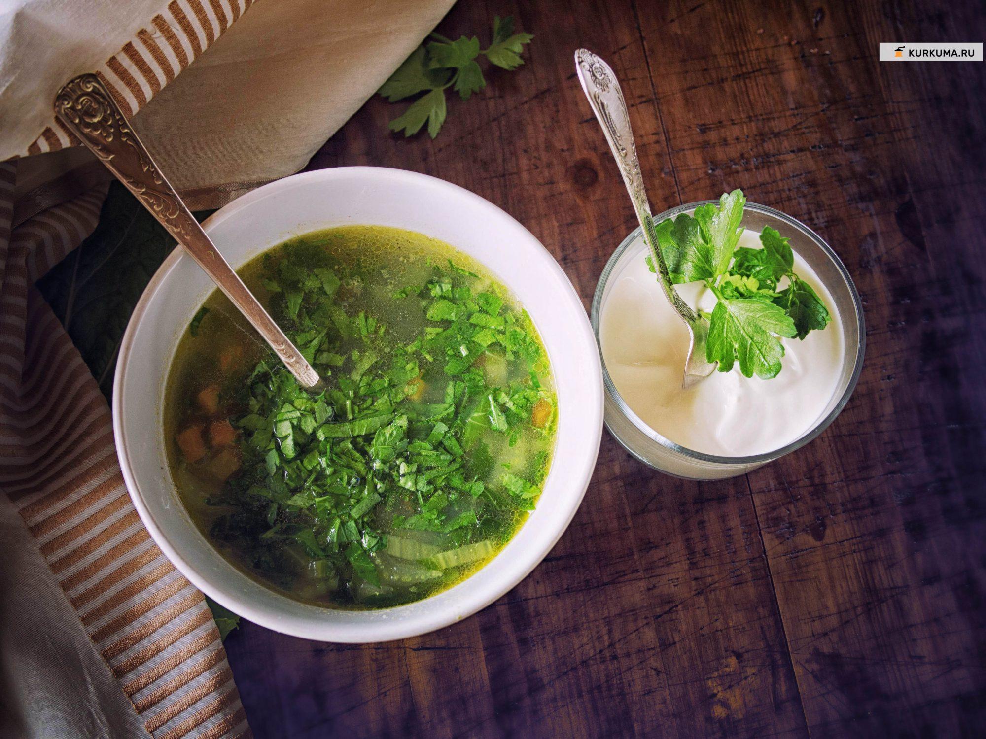 Овощной суп с пекинской капустой (щи)