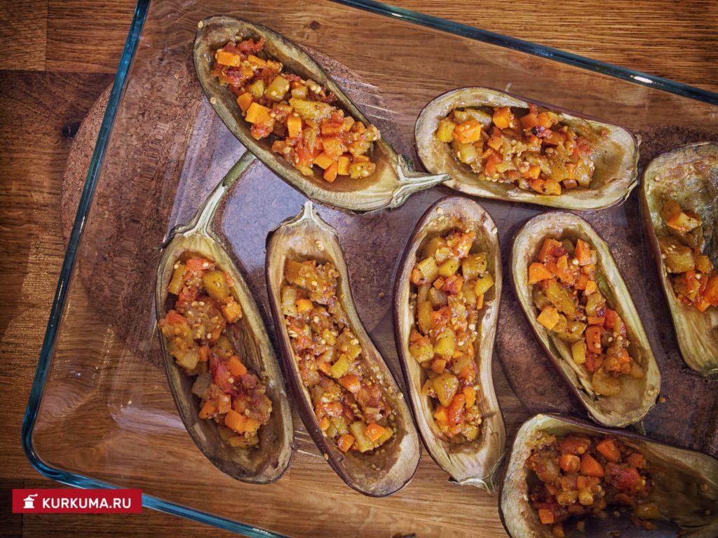 Лодочки из баклажанов рецепт пошагово 158
