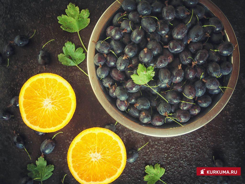 Варенье из крыжовника с апельсином - ингредиенты