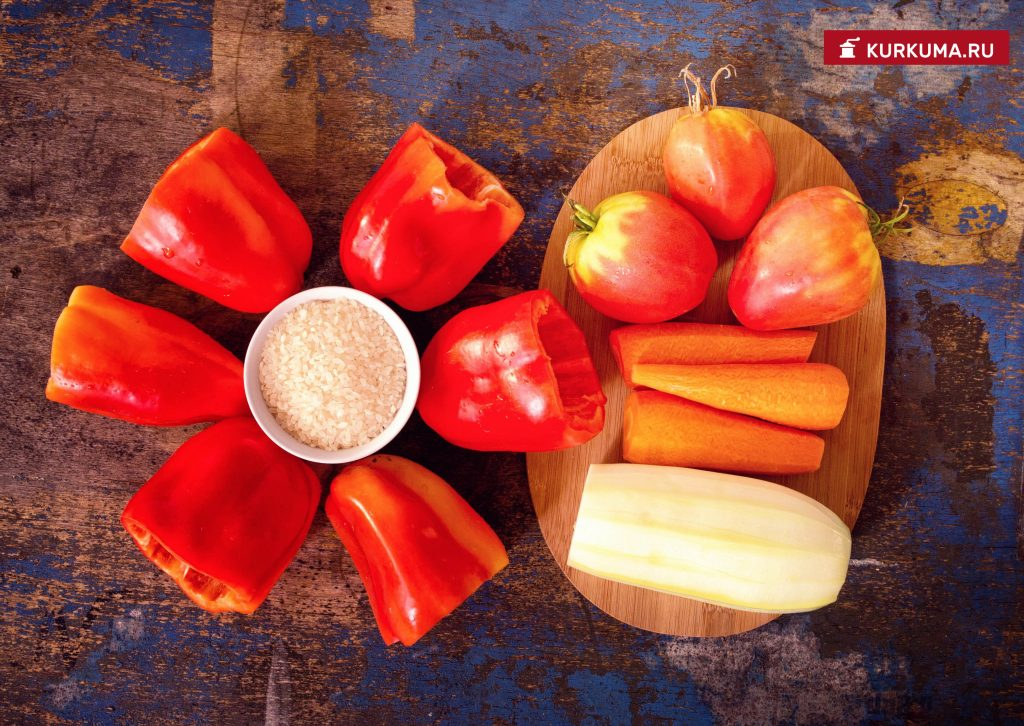 Фаршированные перцы по-вегетариански - ингредиенты
