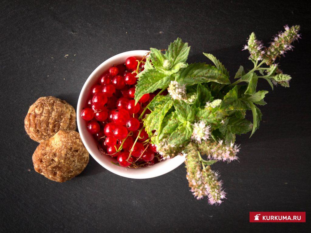 Напиток из красной смородины с мятой - ингредиенты