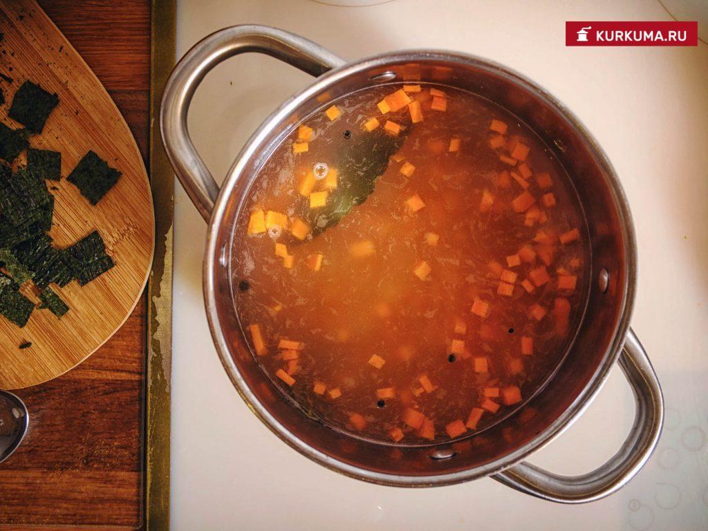 Вегетарианская уха - рецепт с фото