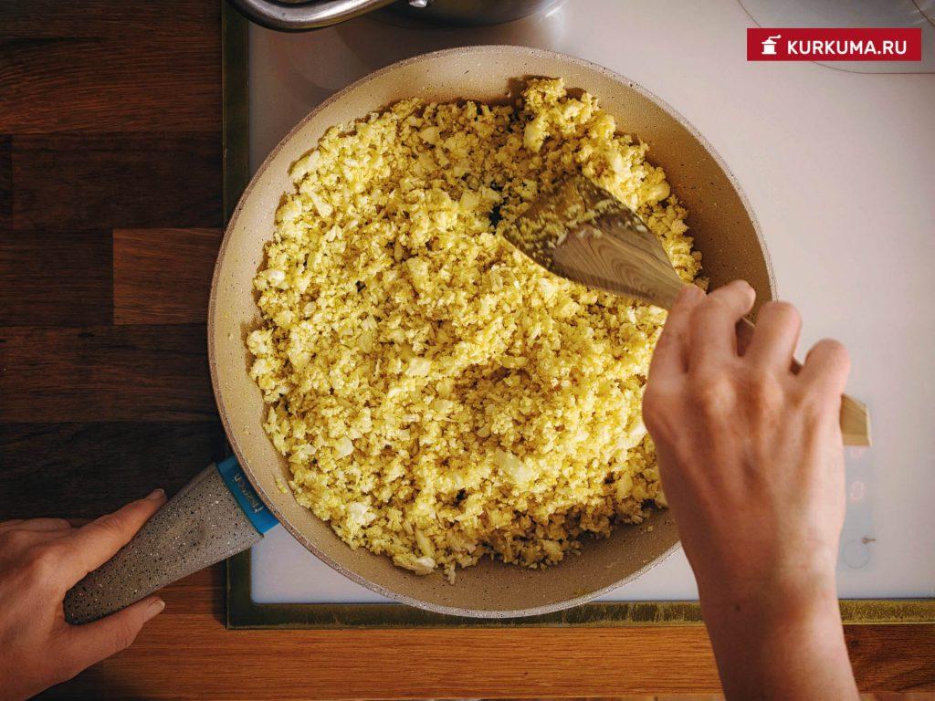 Рис из цветной капусты - рецепт с фото