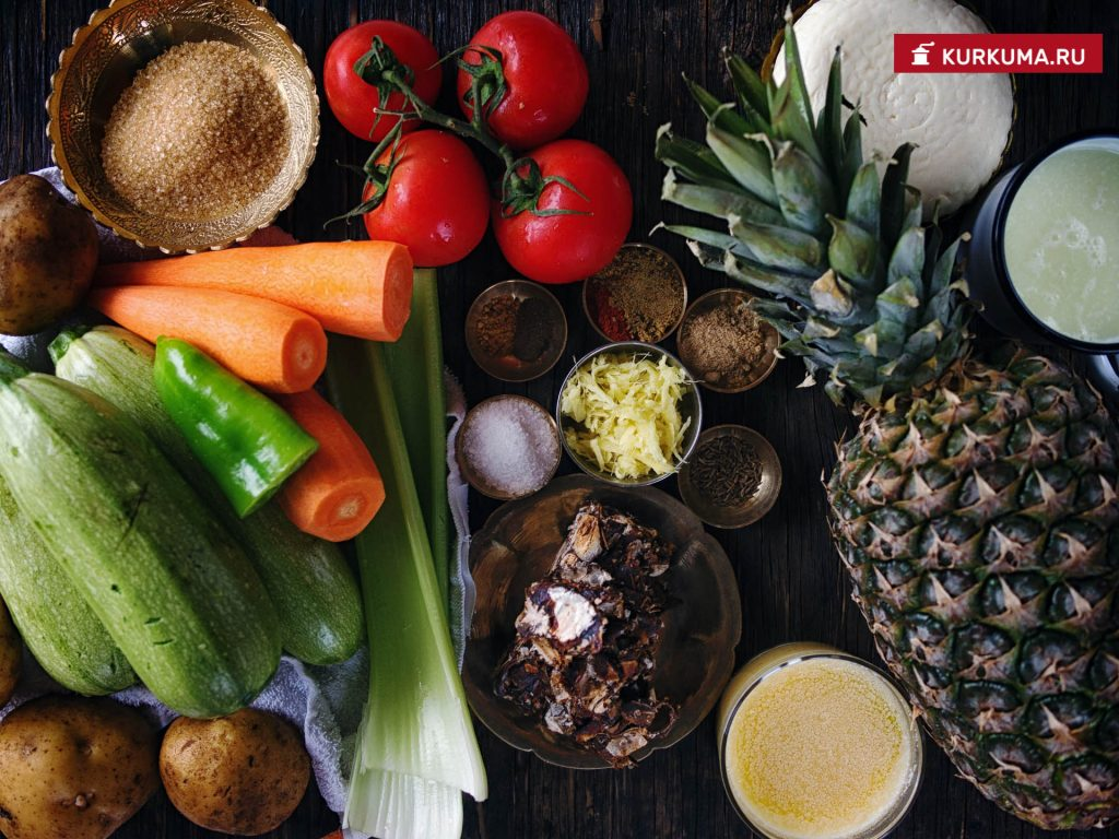 Кисло-сладкие овощи - рецепт сабджи с фото