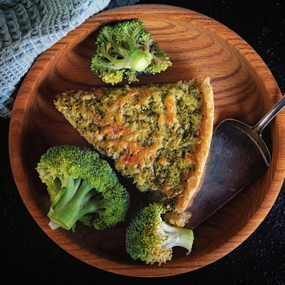 Вегетарианские рецепты - пирог с брокколи