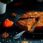 Морковный  кекс веган