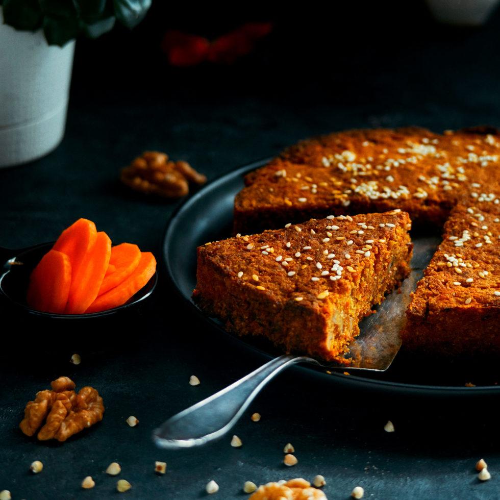 рецепт. морковный кекс веган, без белой муки, без белого сахара