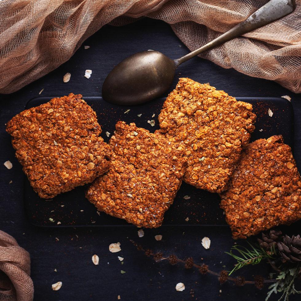 Соленое овсяное печенье рецепт