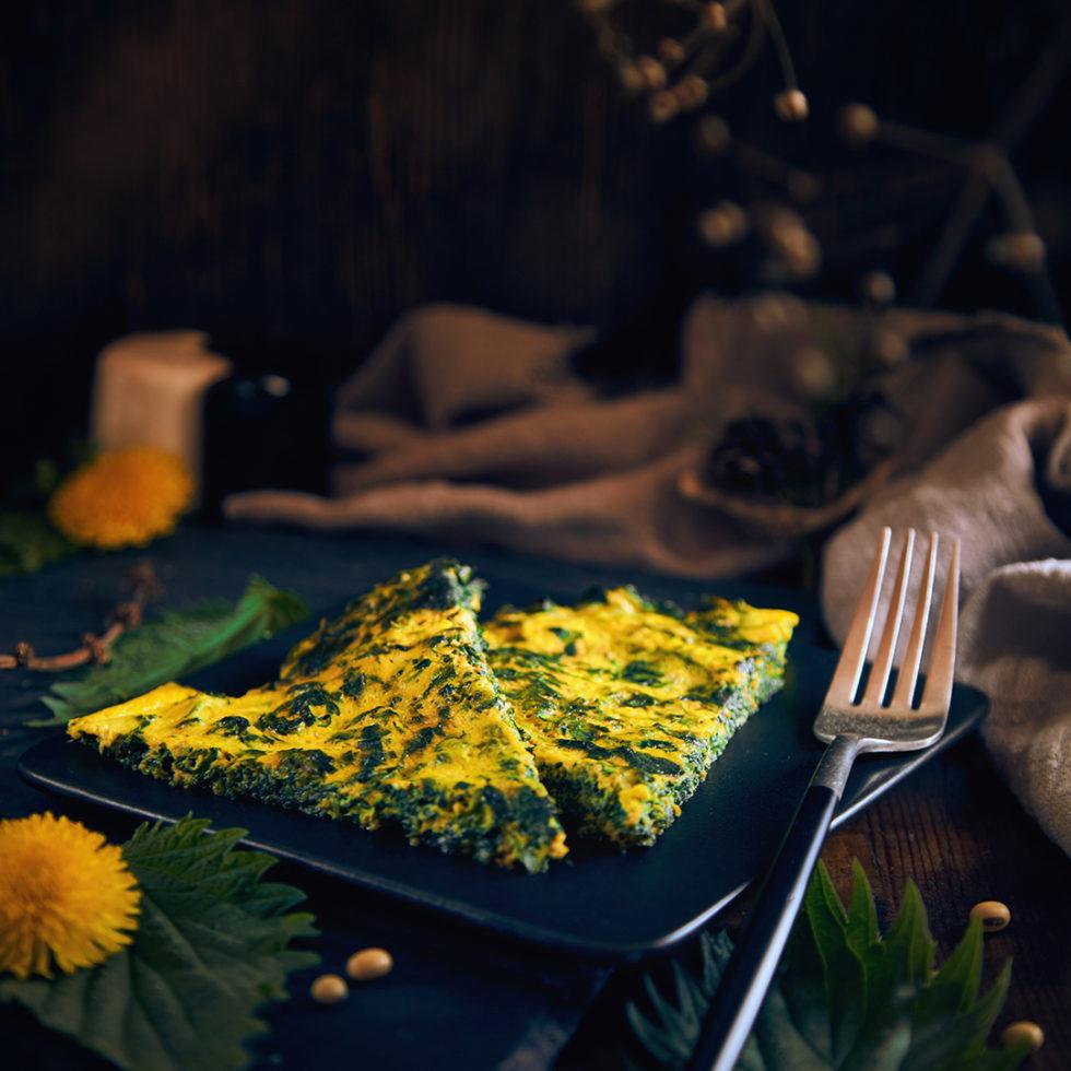 рецепт веганского омлета с крапивой и тофу